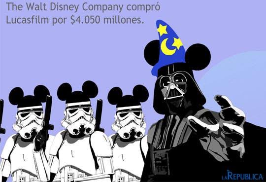 """Disney compra Lucasfilm y anuncia nueva entrega de """"Star Wars"""""""