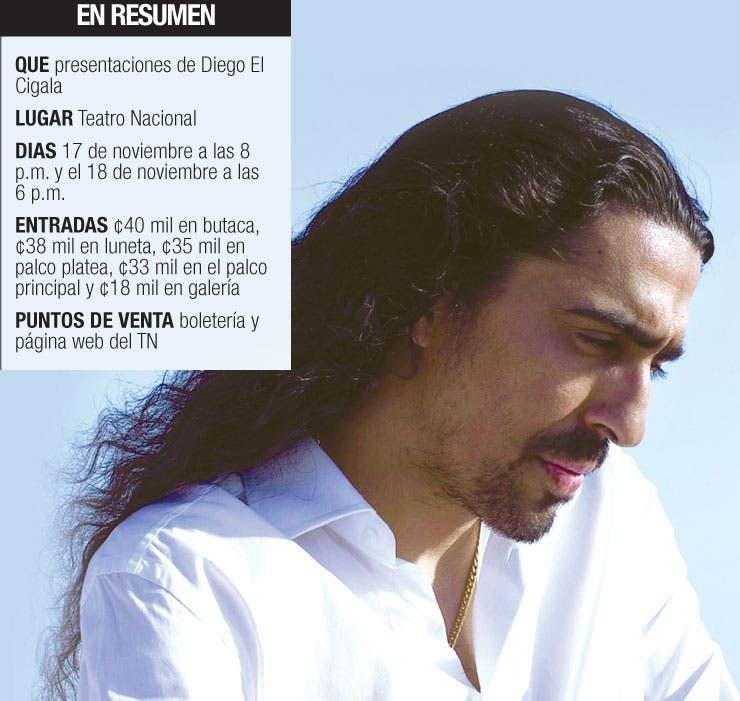 """Diego El Cigala: """"Cuando estoy en Costa Rica me siento tico"""""""