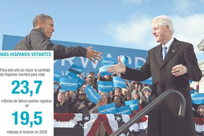 Cerró Obama con Clinton y estrellas