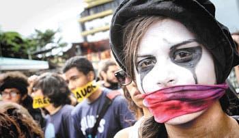 Protestas sin violencia