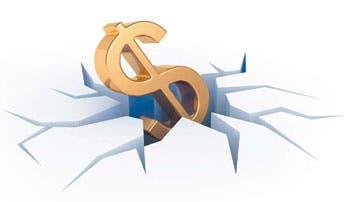 Bajan ganancias de deuda en dólares