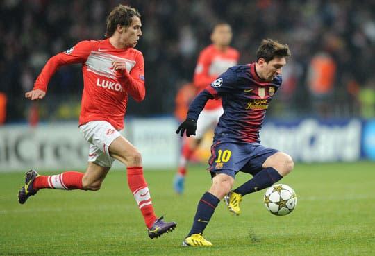 Barca avanza a octavos de la mano de Messi