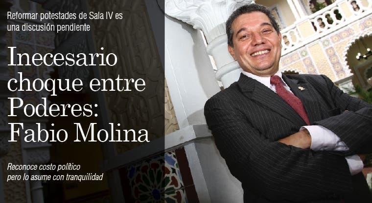 Necesario choque entre poderes: Fabio Molina