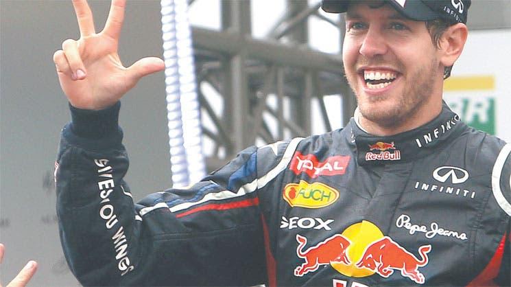 Vettel pulveriza a Senna