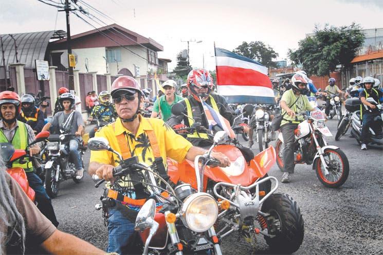 Molestia entre motociclistas