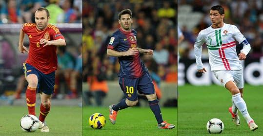 Messi, Ronaldo e Iniesta, finalistas al Balón de Oro