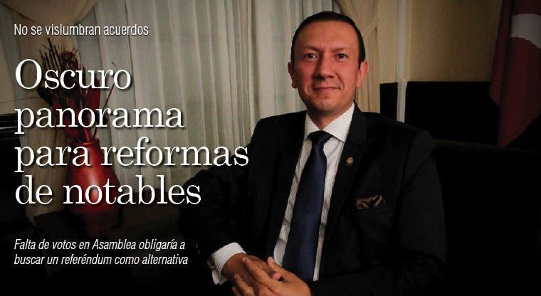 Oscuro panorama para reformas de notables