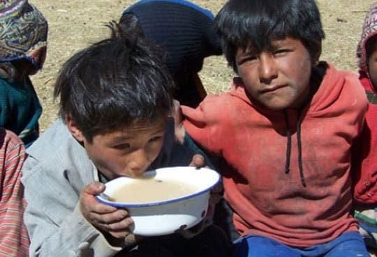 Alta tasa de desnutrición infantil en el país