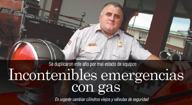 Incontenibles emergencias con gas
