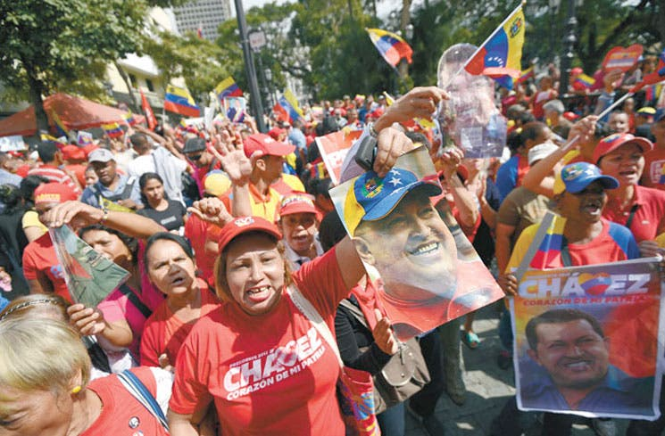 Chávez regresó, tras dos meses de hospitalización