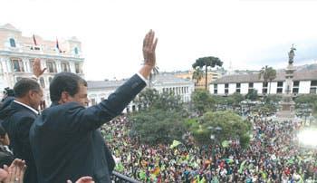 Correa lidera votación en Parlamento