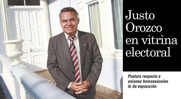 Justo Orozco en vitrina electoral
