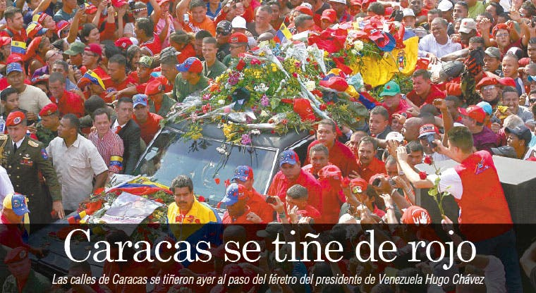 Caracas se tiñe de rojo
