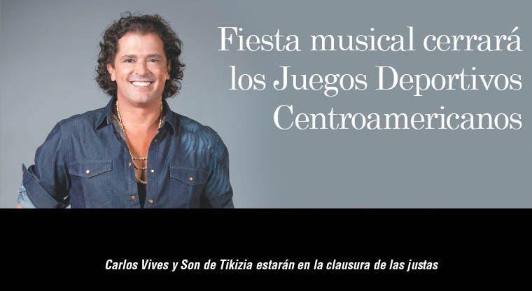 Fiesta musical cerrará los Juegos Deportivos Centroamericanos