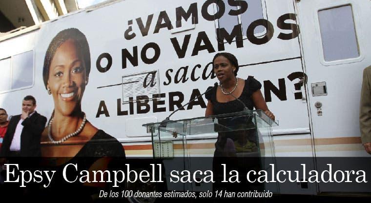 Epsy Campbell saca la calculadora