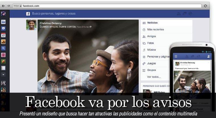 Facebook va por los avisos