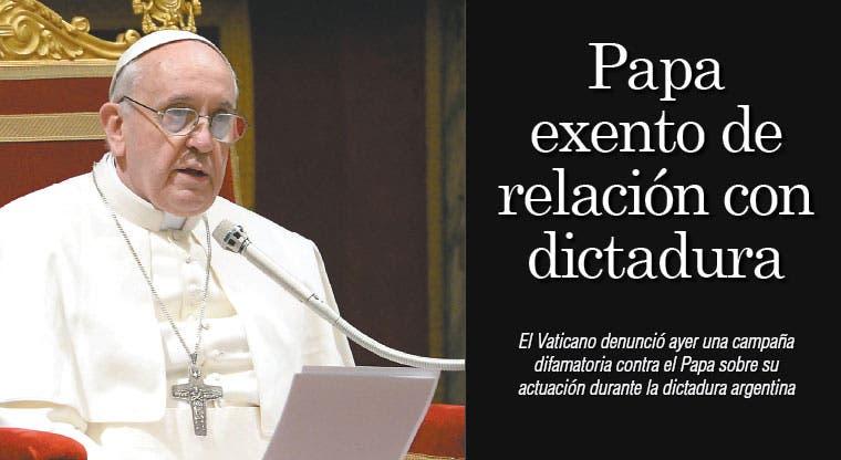 Papa exento de relación con dictadura