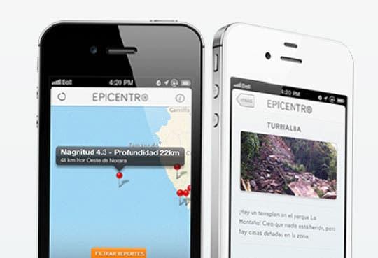 Aplicación informa sobre sismos recientes en nuestro país