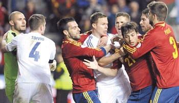 España contra las cuerdas