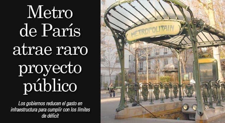 Metro de París atrae raro proyecto público