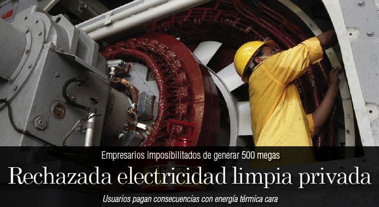 Rechazada electricidad limpia privada