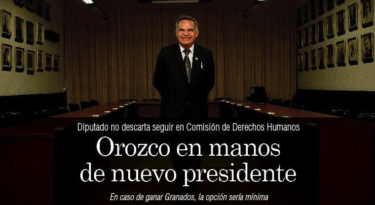 Orozco en manos de nuevo presidente