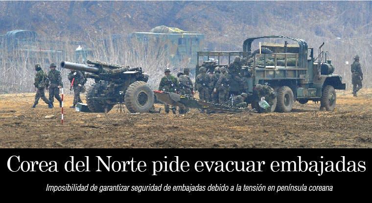 Corea del Norte pide evacuar embajadas en Pyongyang