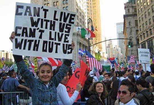 """Inmigrantes de EE.UU protagonizarán """"jornada histórica"""""""
