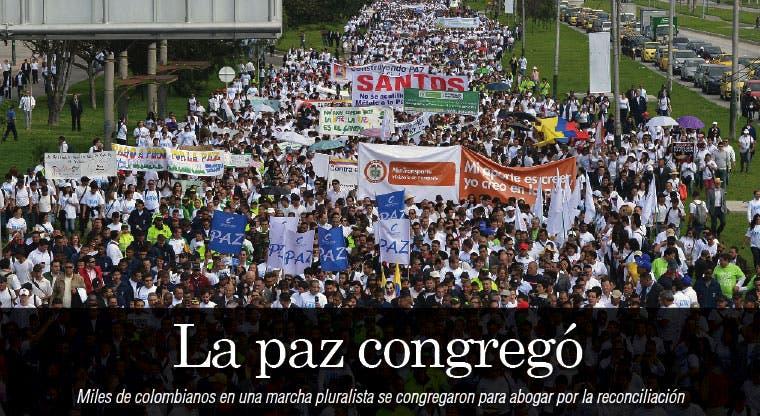 Paz congrega a miles en Colombia