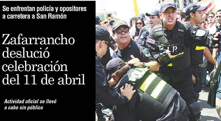 Zafarrancho deslució celebración del 11 de abril
