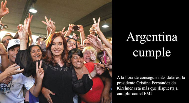 Argentina cumple con el FMI para tener dinero