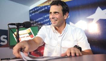 Capriles impugnó todo el proceso electoral