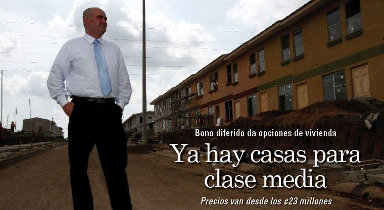 Ya hay casas para clase media