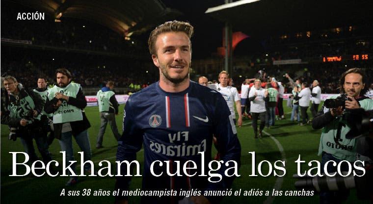 Beckham cuelga los tacos
