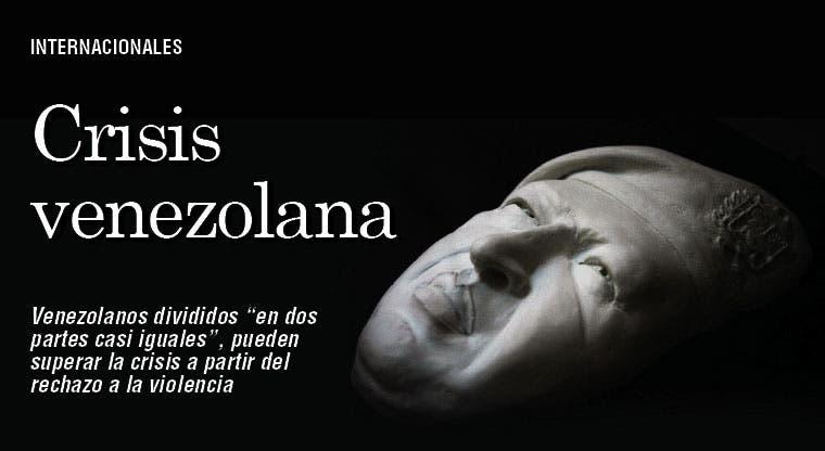 Dejar violencia: salida a crisis venezolana
