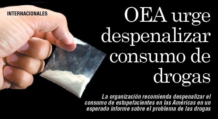 OEA urge despenalizar consumo de drogas