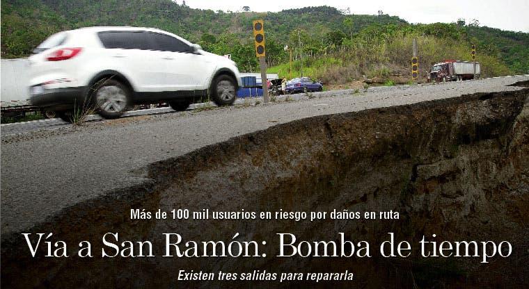 Vía a San Ramón: Bomba de tiempo