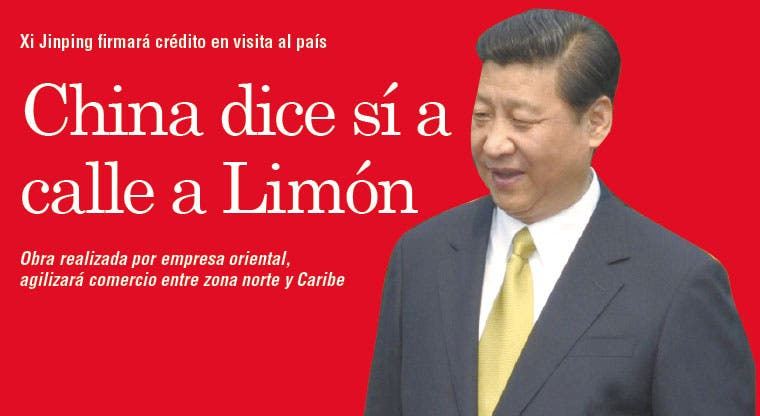 China dice sí a calle a Limón
