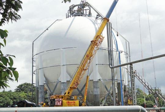 En el país material para esferas de gas