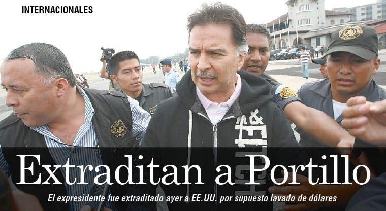 Extraditan a Alfonso Portillo a EE.UU.