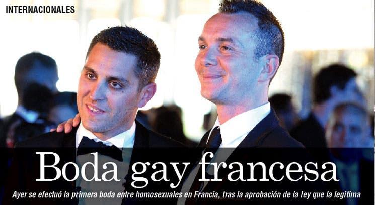Se casó primera pareja gay en Francia