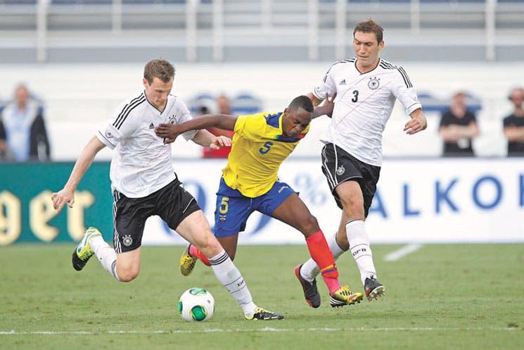Ecuador reprueba ante Alemania