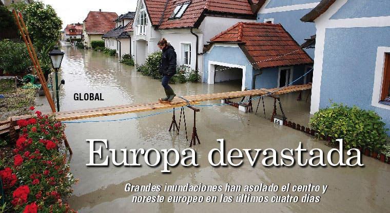 Inundaciones devastan a Europa