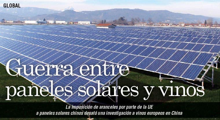 Paneles solares y vinos en guerra comercial