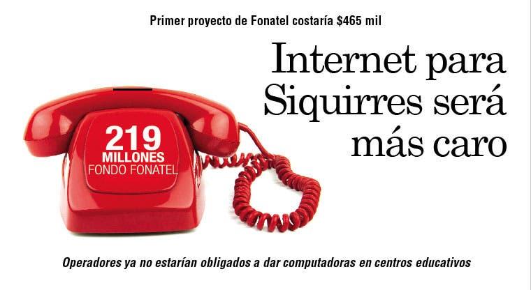 Internet para Siquirres será más caro