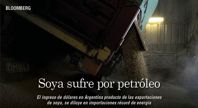 Soya argentina sufre por petróleo