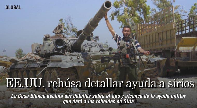 EE.UU. rehúsa detallar ayuda a rebeldes sirios