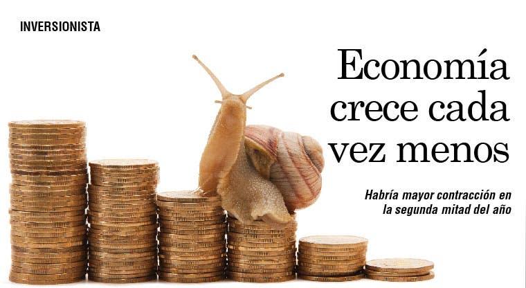 Economía crece cada vez menos