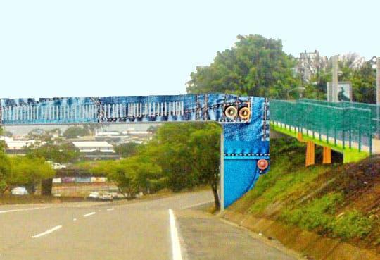 Puentes peatonales tendrán arte