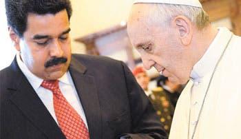 Venezuela acaparó cita del Papa con Maduro